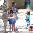 Exclusif - L'actrice Busy Philipps a amené sa fille Birdie Silverstein jouer dans un parc à Los Feliz. Le 14 août 2014.