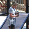 Exclusif - Busy Philipps a amené sa fille Birdie Silverstein jouer dans un parc à Los Feliz. Le 14 août 2014.
