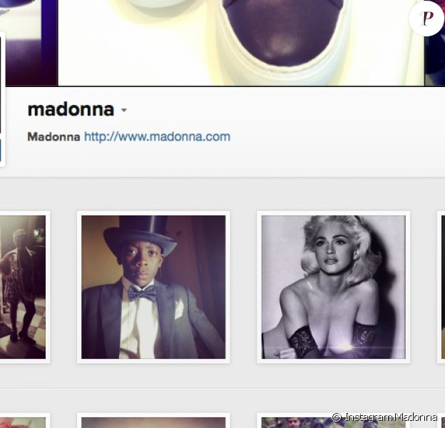 La page Instagram de Madonna, qui a posté de nouvelles photos à l'occasion de son anniversaire, le 16 août 2014