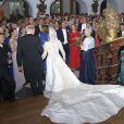 Mariage religieux de la princesse Nathalie de Sayn-Wittgenstein-Berleburg et Alexander Johannsmann le 18 juin 2011 à Bad Berleburg.
