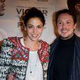 """Davy Sardou et sa femme Noémie Elbaz - Avant-première du film """"Victor Young Perez"""" à Paris, le 19 novembre 2013."""