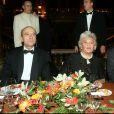 Alain Juppé, la baronne Philippine de Rothschild, Renaud Donnedieu de Vabres - Soirée de gala de L'Arop au Palais Garnier à Paris en 2004.