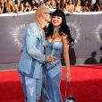 RiFF RAFF et Katy Perry, habillées en Versace, assistent aux MTV Video Music Awards 2014 au Forum. Inglewood, le 24 août 2014.