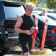 """Gordon Ramsey se rend à un cours de sport à la salle """"Soul Cycle"""" à Brentwood, le 23 aout 2014"""