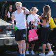 """Jack Ramsey, Holly Ramsey, Megan Ramsey, Matilda Ramsey se rendent à un cours de sport à la salle """"Soul Cycle"""" à Brentwood, le 23 aout 2014"""
