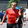 """Gordon Ramsay, Tana Ramsay se rendent à un cours de sport à la salle """"Soul Cycle"""" à Brentwood, le 23 aout 2014"""