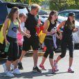 "Gordon Ramsey, Holly Ramsey, Megan Ramsey, Matilda Ramsey, Tana Ramsey se rendent à un cours de sport à la salle ""Soul Cycle"" à Brentwood, le 23 aout 2014"