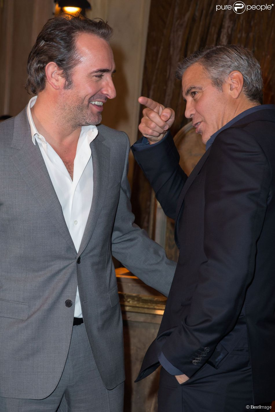 Jean dujardin george clooney recrute son 39 39 superpote for Dujardin clooney