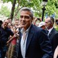 George Clooney à Paris, le 16 juillet 2013.
