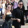 Angelina Jolie et Brad Pitt lors de la première de Maleficent le 28 mai 2014 à Los Angeles. Le mariage du couple a eu lieu en France le 23 août 2014.