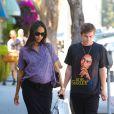 Zoe Saldana dans les rues de Beverly Hills, Los Angeles, le 27 août 2014.