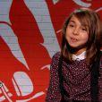 Carla dans The Voice Kids, le 30 août 2014 sur TF1.