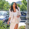 Kim Kardashian arrive à la boutique Menchie's à Calabasas, le 28 août 2014.