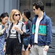 Kate Mara et son boyfriend Max Minghella à Soho, New York, le 6 juin 2014.
