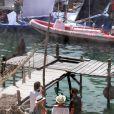 "La série ""Game of Thrones"" en tournage à Kastel Gomilica en Croatie, le 31 août 2014."