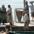 Le tournage de la série Game of Thrones à Kastel Gomilica en Croatie, le 31 août 2014.
