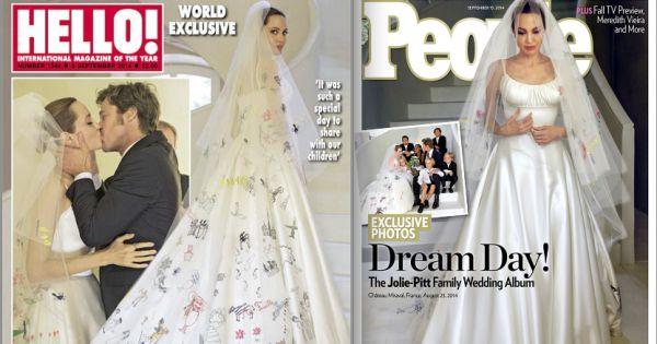 mariage d 39 angelina jolie et brad pitt les premi res photos de la noce. Black Bedroom Furniture Sets. Home Design Ideas