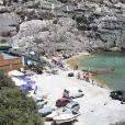 Exclusif - Vue du lieu de tournage du film d'Angelina Jolie et Brad Pitt à Gozo à Malte, le 13 août 2014.