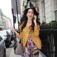 Amal Alamuddin sa mère Baria ont passé une journée à Mayfair à Londres le 3 septembre 2014, notamment dans les boutiques Alexander McQueen