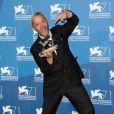 Emir Hadzihafizbegovic lors de la remise des prix de la 71e Mostra de Venise le 6 septembre 2014