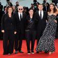 Le jury Orizzonti Moran Atias, Roberto Minervini, Ann Hui, David Chase, Pernilla August lors de la cérémonie de clôture et la remise des prix de la 71e Mostra de Venise le 6 septembre 2014