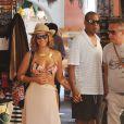 Beyoncé et Jay-Z dans les rues de Portofino, le 6 septembre 2014.