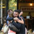 Jérôme Kerviel a retrouvé ses proches et son comité de soutein dans un café parisien après avoir quitté la prison de Fleury-Mérogis, le 8 septembre 2014 au matin.