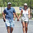 Britney Spears et David Lucado vont faire du shopping dans un centre commercial à Los Angeles, le 13 juillet 2014.
