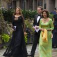 La reine Silvia de Suède arrive avec la princesse Madeleine de Suède et son époux Christopher O'Neill au Berns Hotel, à Stockholm le 8 septembre 2014, pour le gala des 15 ans de la World Childhood Foundation.