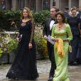 La reine Silvia de Suède, la princesse Madeleine de Suède et son époux Christopher O'Neill au Berns Hotel, à Stockholm le 8 septembre 2014, pour le gala des 15 ans de la World Childhood Foundation.