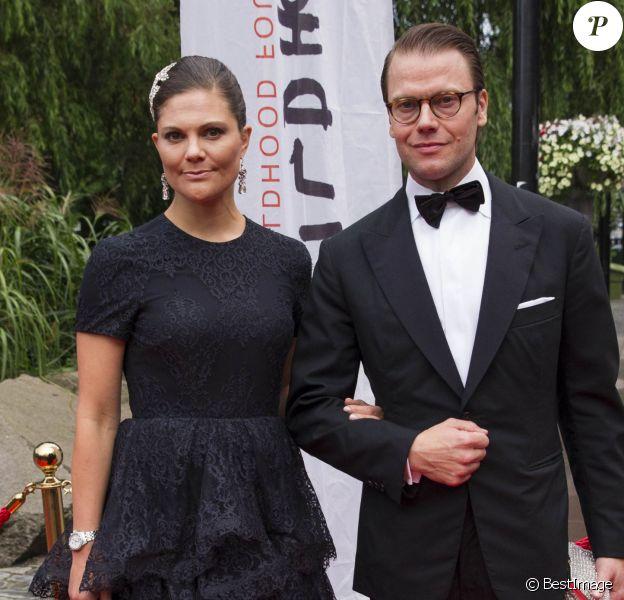 La princesse Victoria de Suède et le prince Daniel au Berns Hotel, à Stockholm le 8 septembre 2014, pour le gala des 15 ans de la World Childhood Foundation.