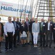 La princesse Victoria de Suède assiste à un événement concernant le développement durable en mer Baltique à Stockholm, le 10 septembre 2014