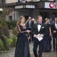 Christopher O'Neill et la princesse Madeleine de Suède  au Berns Hotel, à Stockholm le 8 septembre 2014, pour le gala des 15 ans de la World Childhood Foundation.