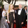 Nicole Kidman et son père Antony lors des Golden Globes en 2002