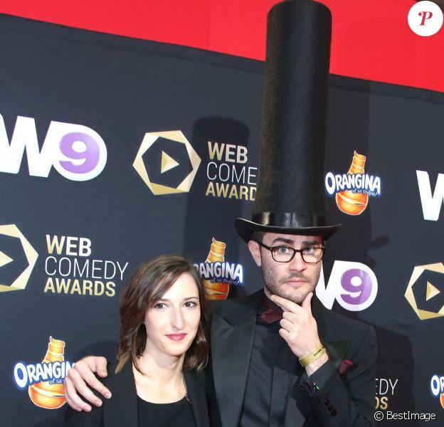 """Cyprien - La cérémonie du Web """"Les Web Comedy Awards"""" à Bobino. Le 21 mars 2014 - Paris"""