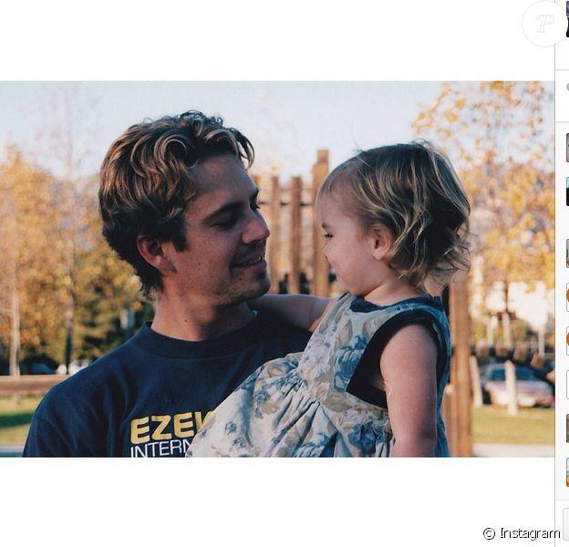 L'hommage de Meadow à son regretté père Paul Walker pour ses 41 ans le 12 septembre 2014.