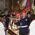 Ambiance  au mariage de la princesse Maria Theresia von Thurn und Taxis et Hugo Wilson, le 13 septembre 2014 en l'église St Joseph à Tutzing, en Bavière (Allemagne).