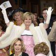 La princesse Gloria von Thurn und Taxis réjouie au mariage de sa fille la princesse Maria Theresia von Thurn und Taxis et d'Hugo Wilson en l'église St Joseph de  Tutzing, en Bavière (Allemagne), le 13 septembre 2014.