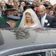 Image du mariage de la princesse Maria Theresia von Thurn und Taxis et d'Hugo Wilson en l'église St Joseph de   Tutzing, en Bavière (Allemagne), le 13 septembre 2014.