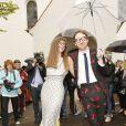 Philip Colbert et Charlotte Colbert  au mariage de la princesse Maria Theresia von Thurn und Taxis et d'Hugo Wilson en l'église St Joseph de   Tutzing, en Bavière (Allemagne), le 13 septembre 2014.