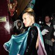Kate Moss arrive à la soirée AnOther's Magazine à Londres, le 15 septembre 2014