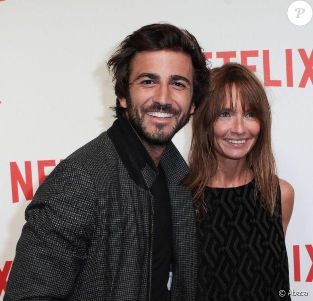 Cyril Paglino et Axelle Laffont lors de la soirée de lancement de Netflix France chez Faust, Paris, le 15 septembre 2014.