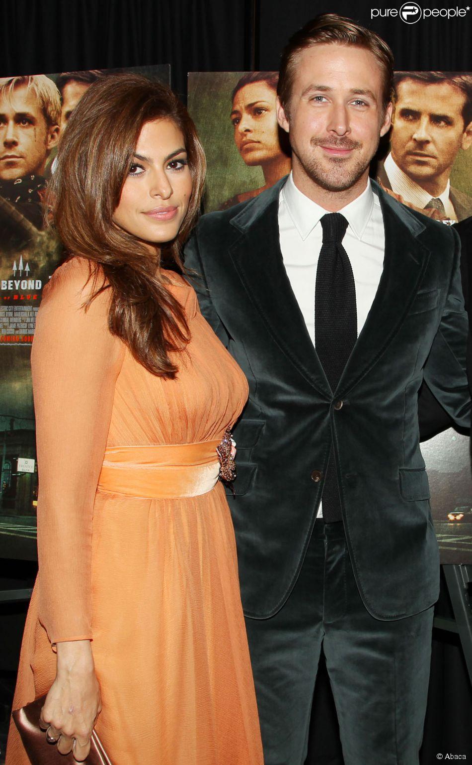 Eva Mendes et Ryan Gosling à la première de Place Beyond the Pines à New York, le 28 mars 2013