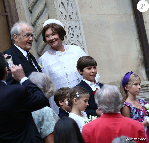 Michel Legrand et Macha Méril se sont mariés religieusement à la cathédrale Saint-Alexandre-Nevsky dans le 17e arrondissement de Paris, le 18 septembre 2014.