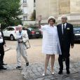 Mariage religieux de Michel Legrand et Macha Méril à la cathédrale Saint-Alexandre-Nevsky dans le 17e arrondissement de Paris, le 18 septembre 2014.