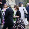 Fanny Ardant - Mariage religieux de Michel Legrand et Macha Méril à la cathédrale Saint-Alexandre-Nevsky dans le 17e arrondissement de Paris, le 18 septembre 2014.