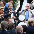 Stéphane Freiss et Macha Méril - Mariage religieux de Michel Legrand et Macha Méril à la cathédrale Saint-Alexandre-Nevsky dans le 17e arrondissement de Paris, le 18 septembre 2014.