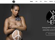 Alicia Keys dénudée et enceinte : Une photo choc pour mener son combat