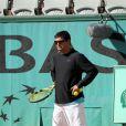 Tony Nadal, l'oncle de Rafael Nadal à l'entraînement à Roland Garros, le 22 mai 2009 du côté de Paris