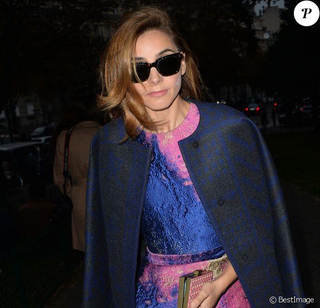 Clotilde Courau (princesse de Savoie) arrive à la Cité de l'Architecture et du Patrimoine pour assister au défilé prêt-à-porter Vionnet printemps-été 2015. Paris, le 24 septembre 2014.